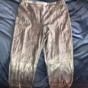 Silver sparkle Moto leggings
